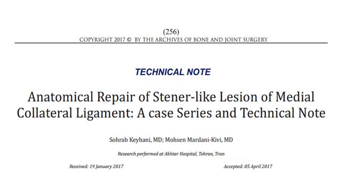 Anatomical Repair of Stener-like Lesion of Medial Collateral Ligament: A case Series and Technical Note