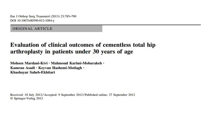 Evaluation of clinical outcomes of cementless total hip arthroplasty in patients under 30 years of age