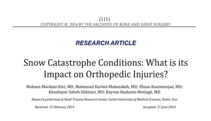 Snow Catastrophe Conditions, What is its Impact on Orthopedic Injuries?