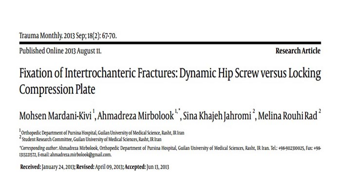 Fixation of Intertrochanteric Fractures, Dynamic Hip Screw versus Locking Compression Plate